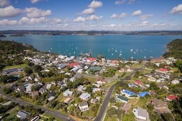 aerial view of TOP 10 Holiday Park Russell