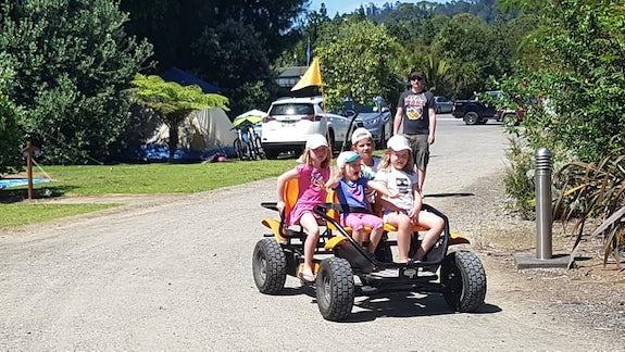 Kids enjoying the Go Karts