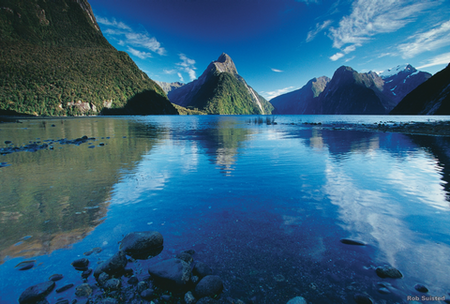 Mitre Peak at Milford Sound, Fiordland