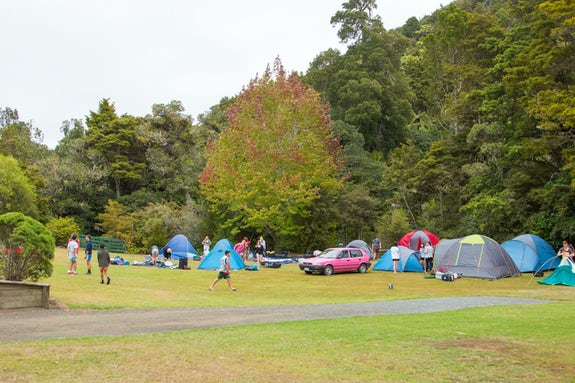 Camping in North Island