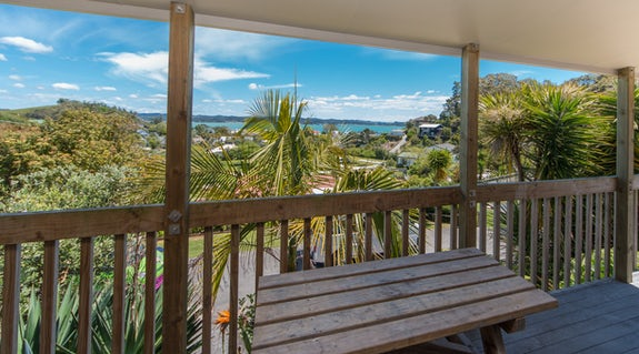 Views of the bay from 1 Bedroom Superior Bayview Villa at Russell TOP 10 Holiday Park