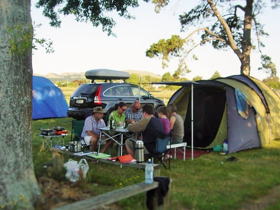 Camping in Lower North Island